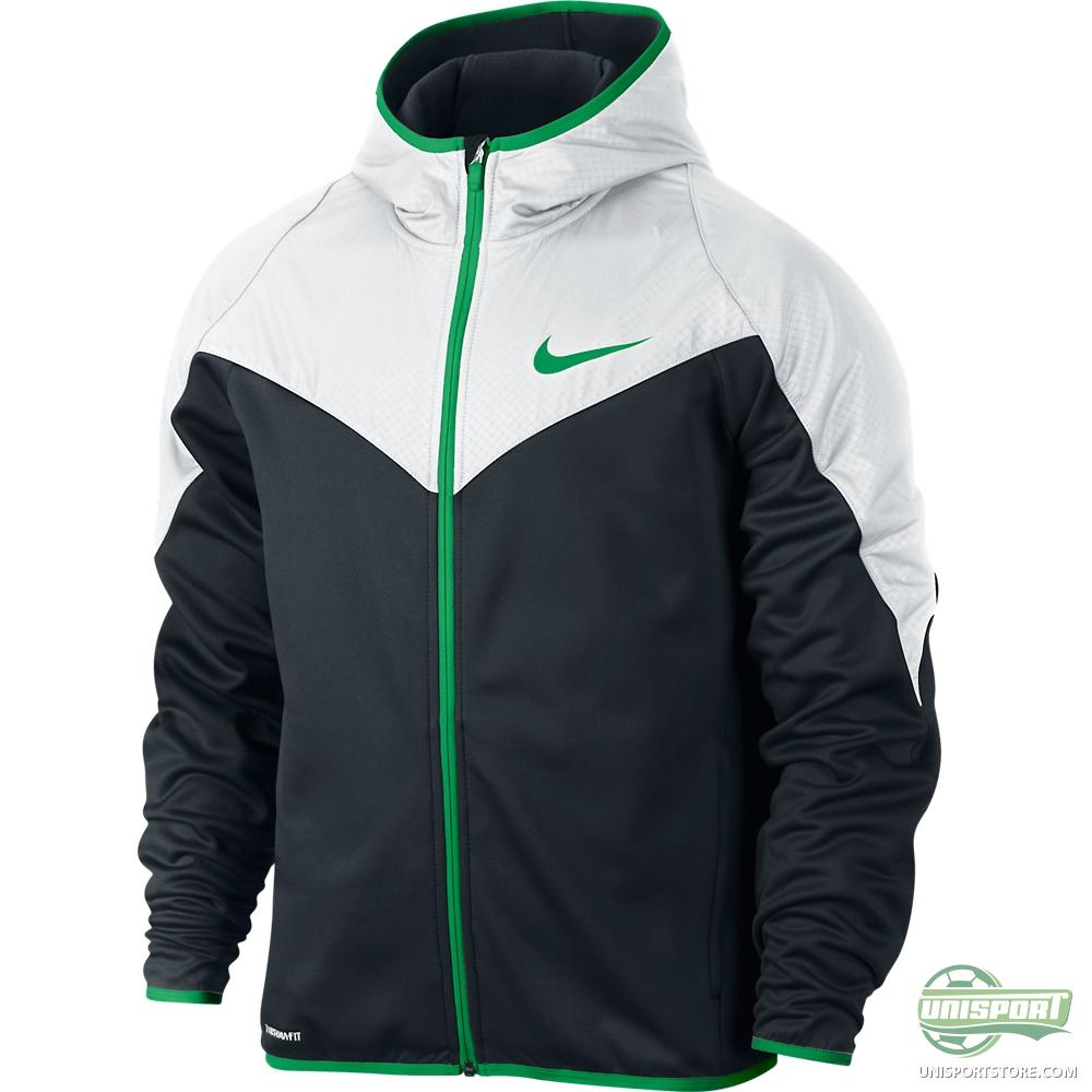 Black and green nike hoodie