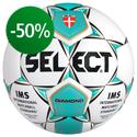 Select - Fotboll Diamond Vit/Turkos