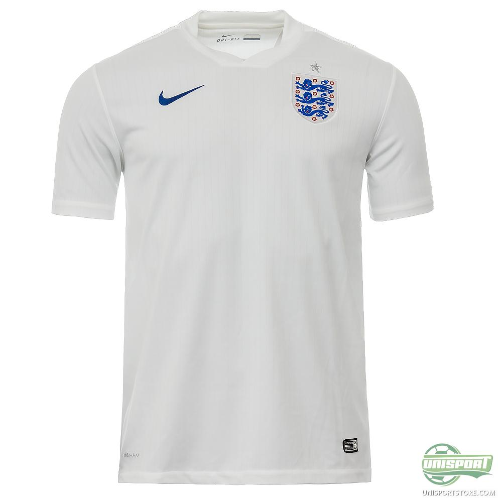 England Shirts. England have Nike shirts for the World Cup finals, a white home worn with blue shorts and white socks and a red away kit of red shirt, .
