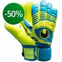 Uhlsport - Goalkeeper Gloves Eliminator Absolutgrip Cyan/Yellow