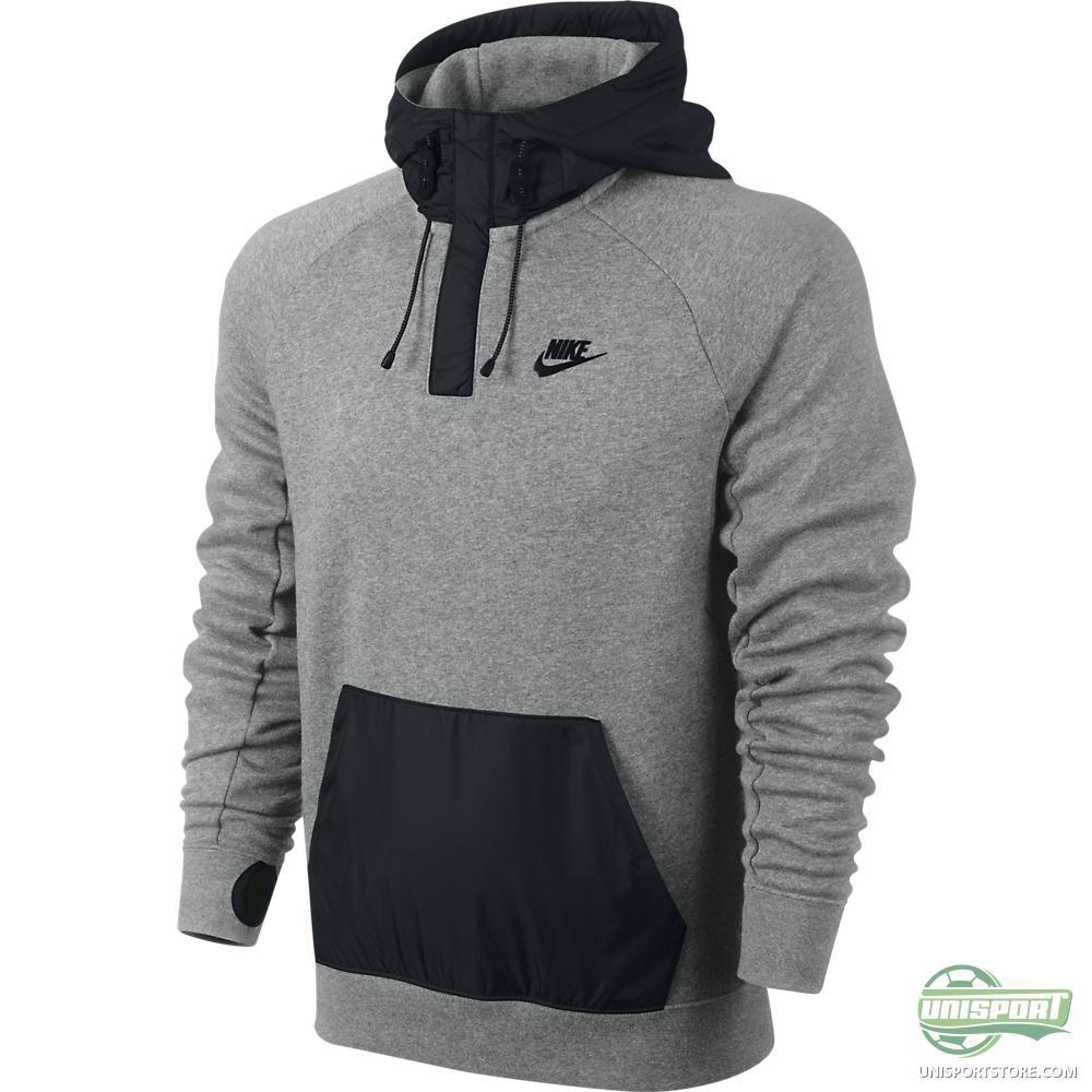 Dark Grey Nike Hoodie Womens - White Polo Sweater