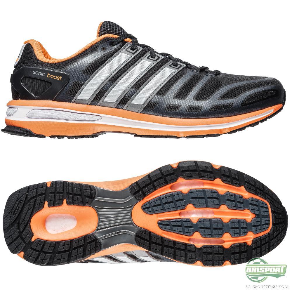 adidas running shoe sonic boost black orange www