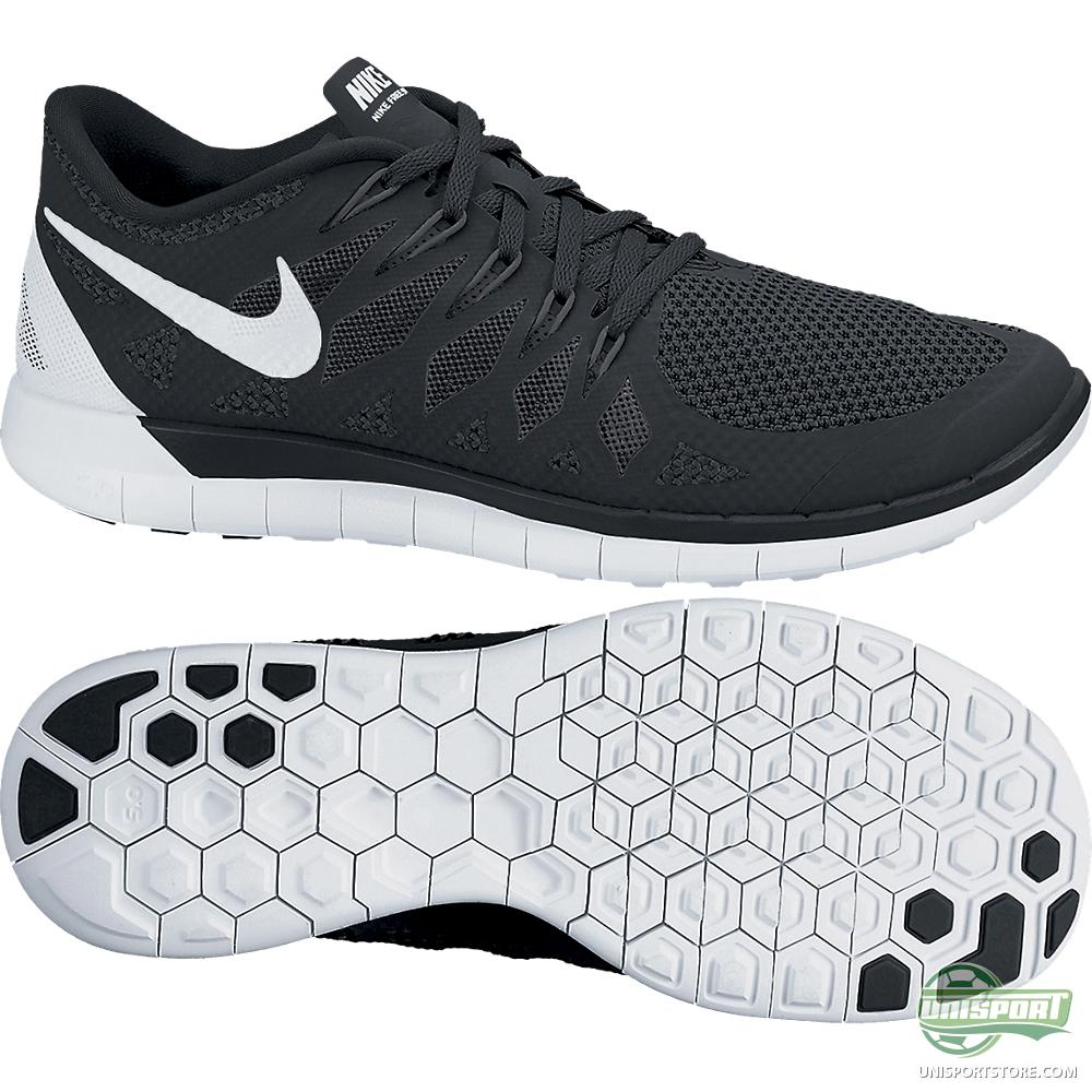 nike free runs 5.0 black and white