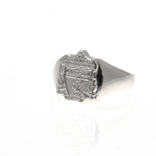 Liverpool Silver Plated Crest Ring Small