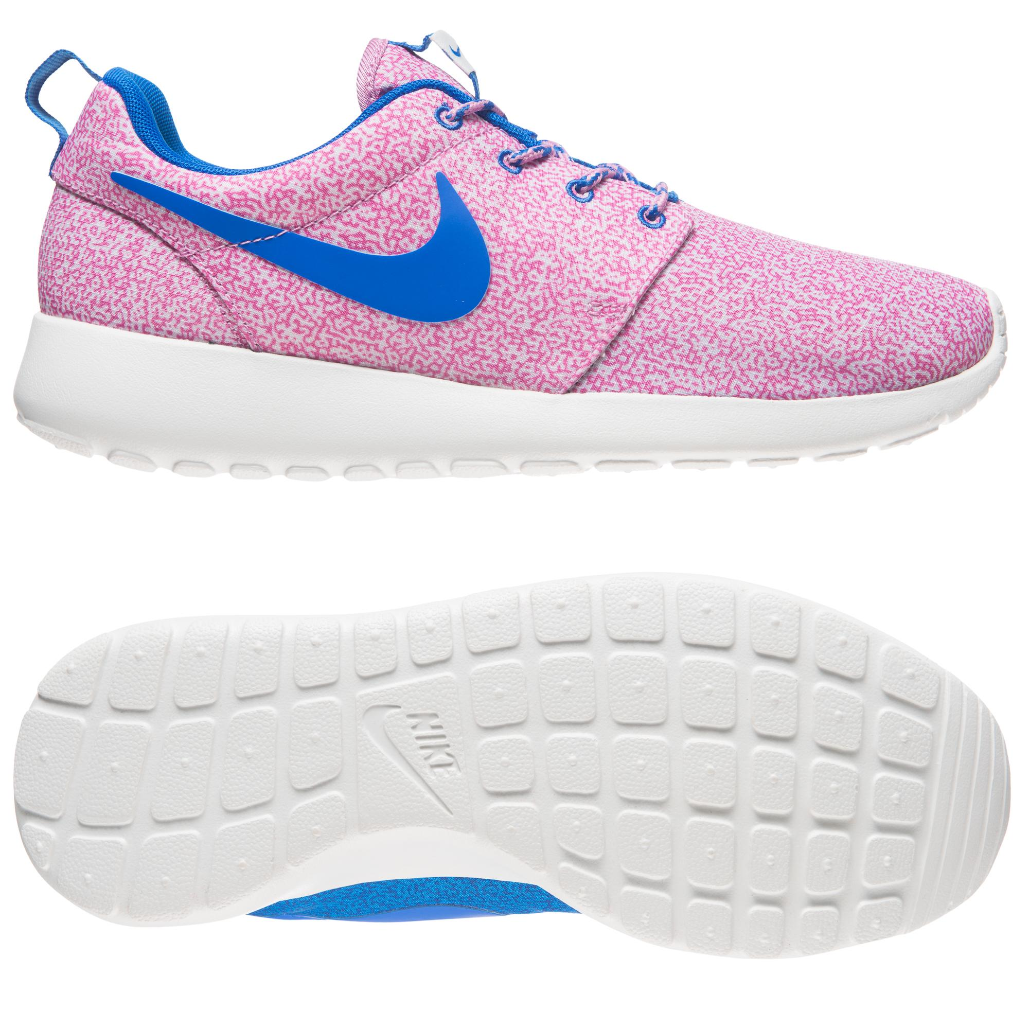 nike roshe run youth gs blauw roze