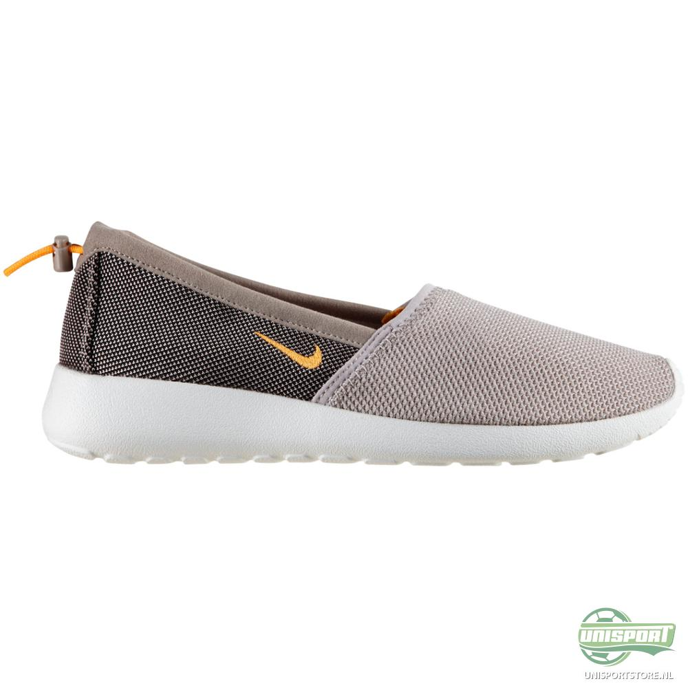 Nike+Slip+Ons Nike - Roshe Run Slip Grijs/Wit Vrouwen | www