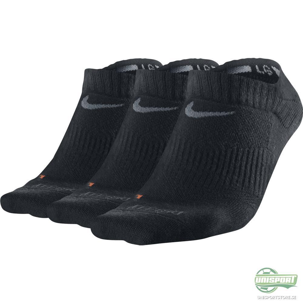 Nike Ankelstrumpor No-Show Dri-FIT 3-pack Svart