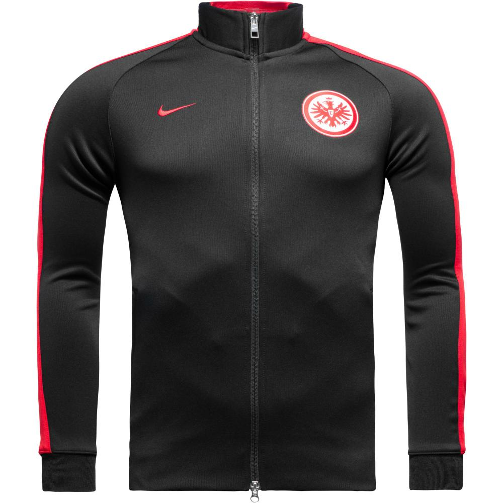 nike eintracht frankfurt n98 track top authentic black. Black Bedroom Furniture Sets. Home Design Ideas
