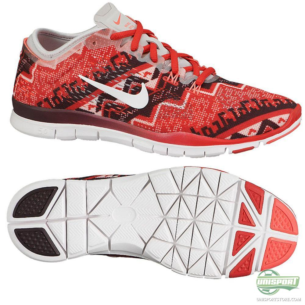 nike free running shoe 5 0 tr fit 4 prt red women www. Black Bedroom Furniture Sets. Home Design Ideas