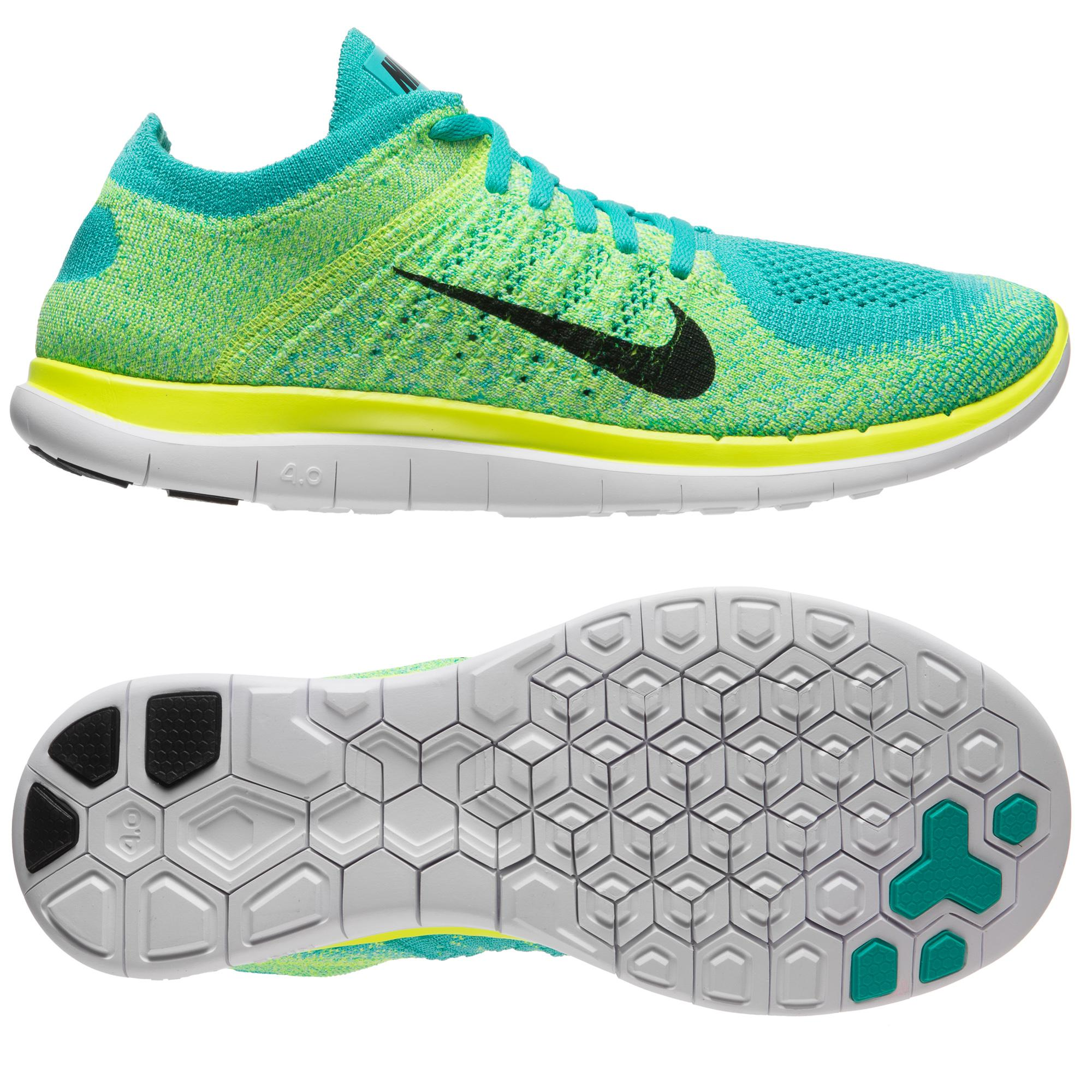 Football365 Nike Free Running Shoe Flyknit 40 Hyper Jadeelectric Greenblack Women 121235 Factory