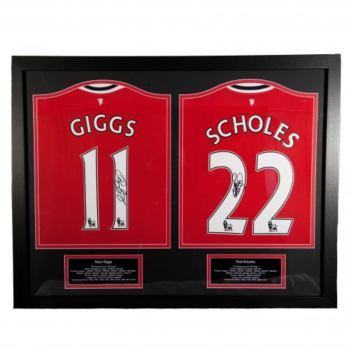 Manchester United Giggs & Scholes Signerade Tröjor