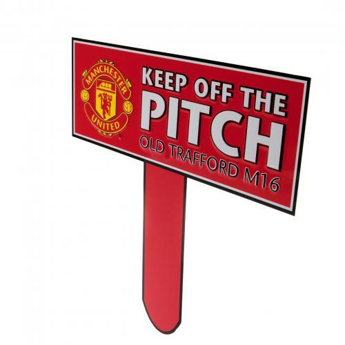 Manchester United Keep Off The Pitch Skylt