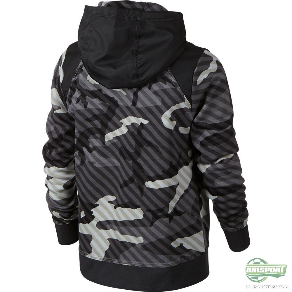 nike hoodie ya76 camo bf fz cool grey anthracite volt. Black Bedroom Furniture Sets. Home Design Ideas