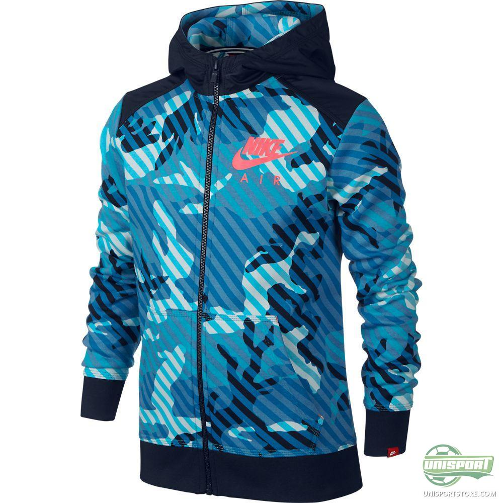 nike hoodie ya76 camo bf fz blue lagoon obsidian bright. Black Bedroom Furniture Sets. Home Design Ideas