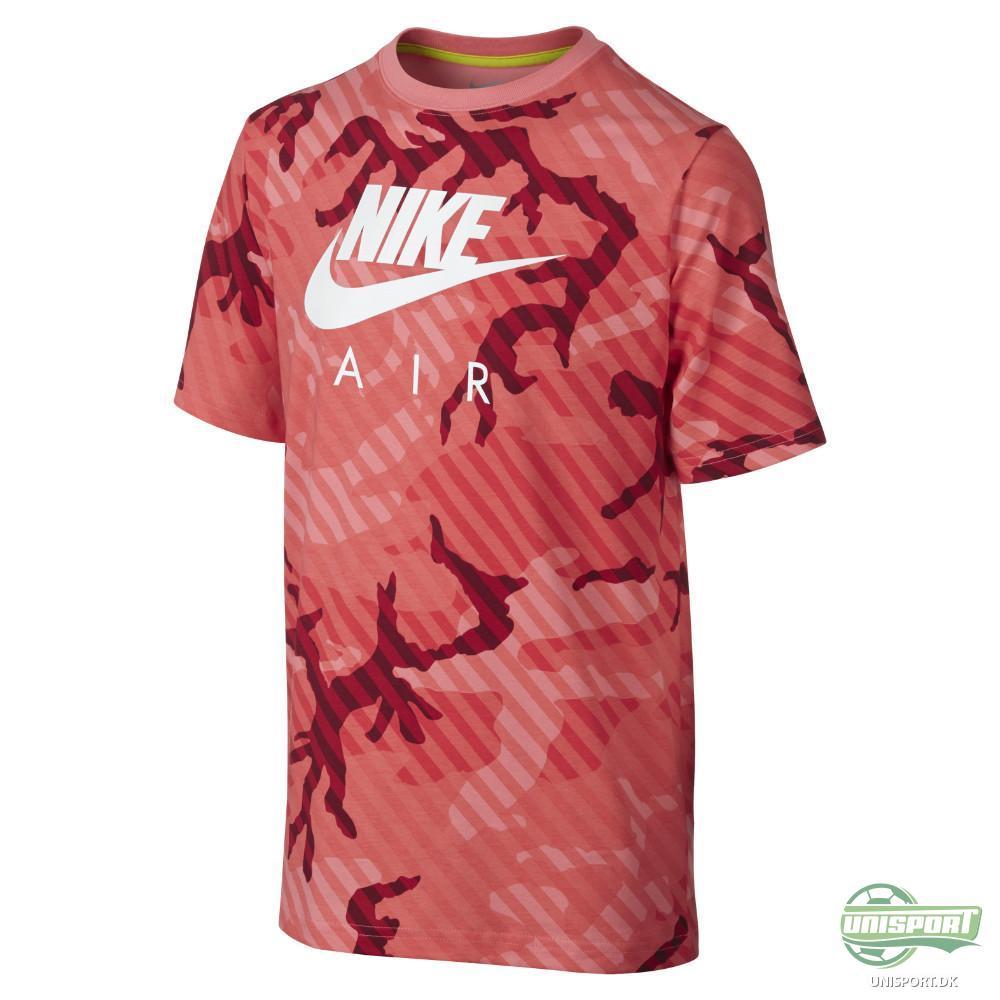 Nike T Shirt CAT Seasonal Camo HBR RødHvid Børn T-shirt/Polo (1871062407)