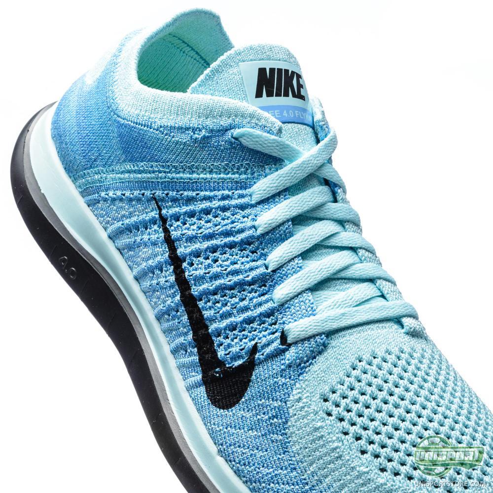 Nike Free - Running Shoe Flyknit 4.0 Glacier Ice/Polarised Blue .