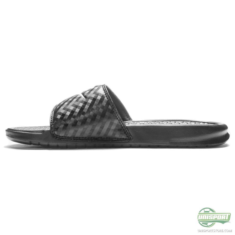 New NIKE Benassi JDI Womens Athletic Sandals Slide Black Pink  EBay