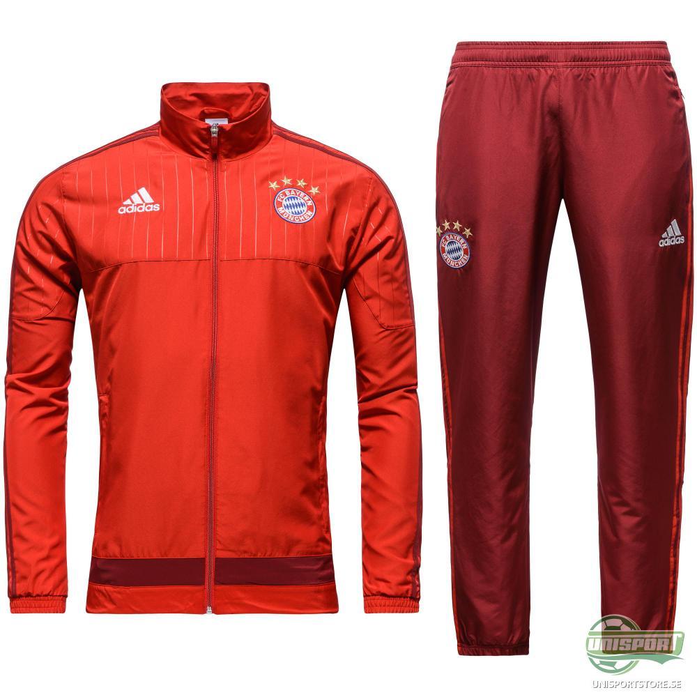 Bayern München Träningsställ Presentation Röd