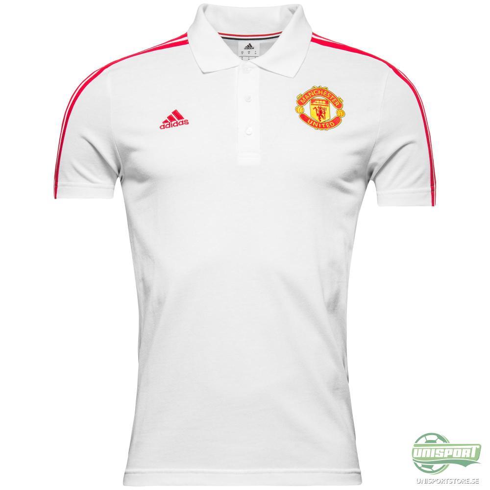 Manchester United Pikétröja 3S Vit