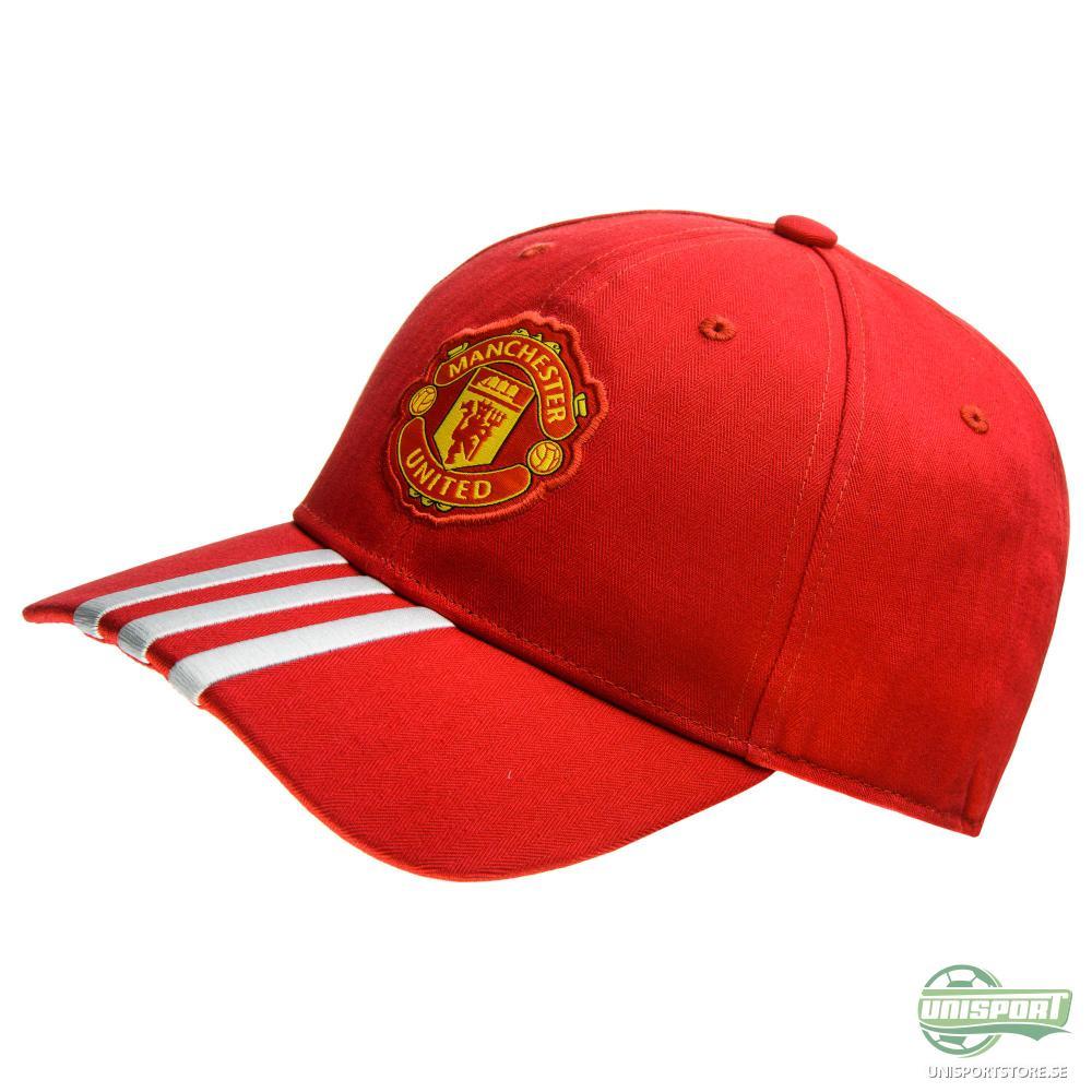 Manchester United Keps 3S Röd/Vit