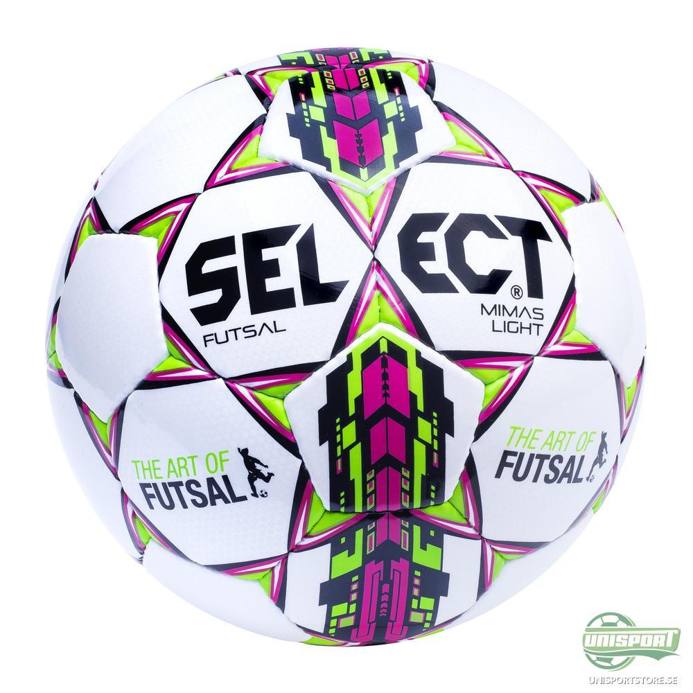 Select Fotboll Futsal Mimas Light Vit/Grön/Rosa