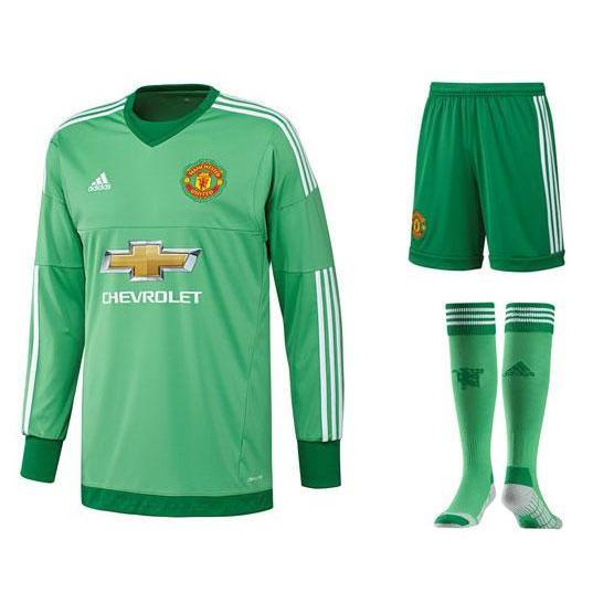 Manchester united goalkeeper kit 2015 16 green kids pre order
