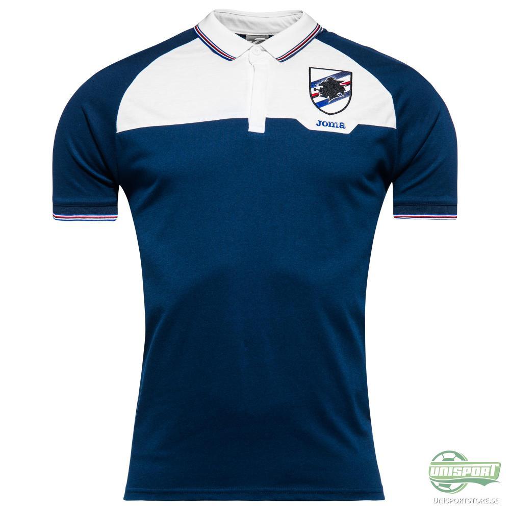 Sampdoria Pikétröja Blå/Vit