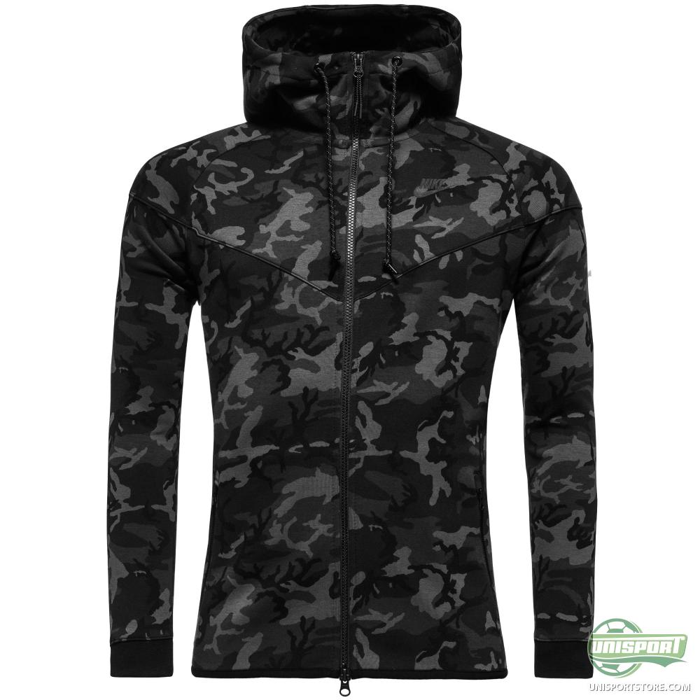 nike hoodie tech fleece windrunner camo medium ash black. Black Bedroom Furniture Sets. Home Design Ideas