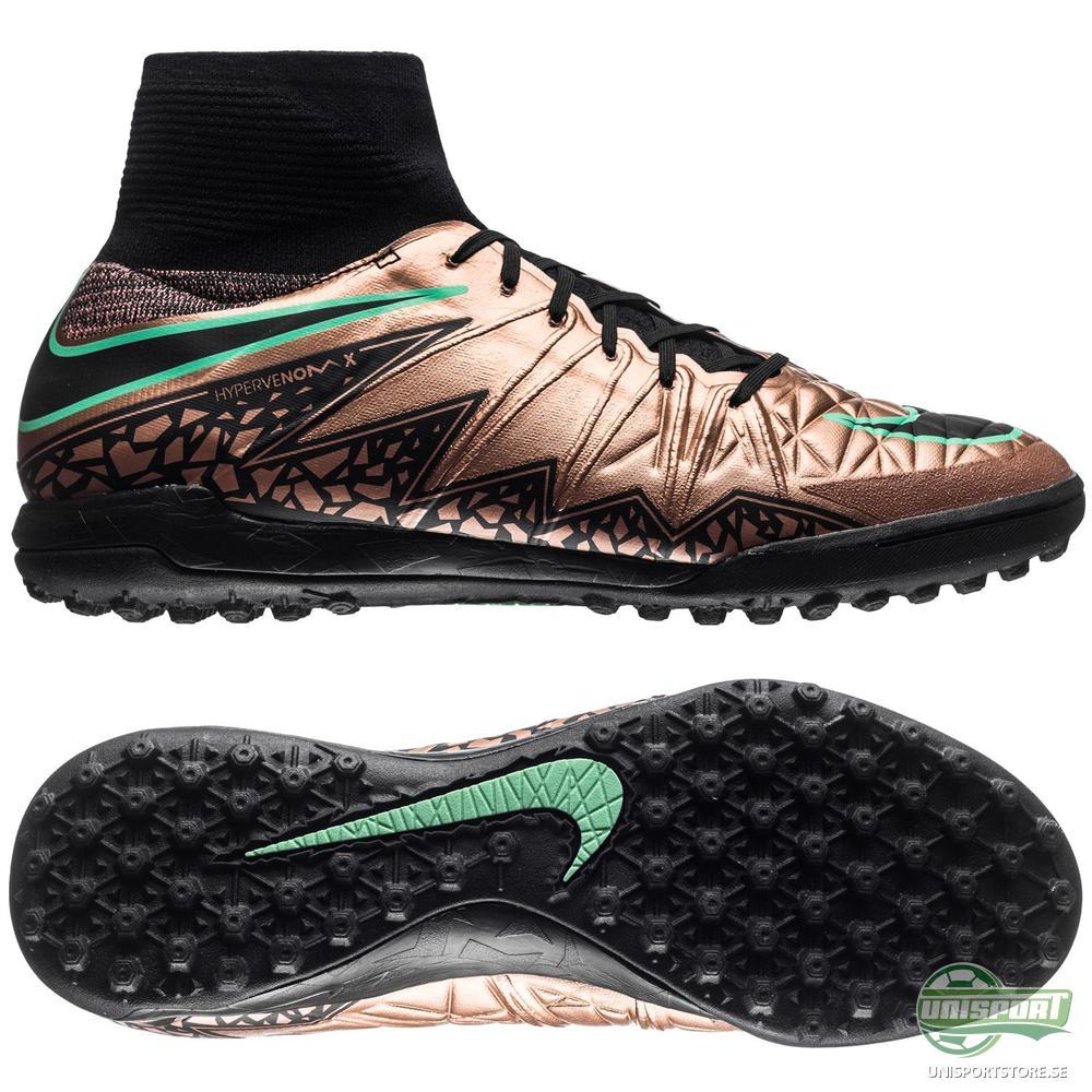 Nike HypervenomX Proximo TF Brons/Svart/Grön