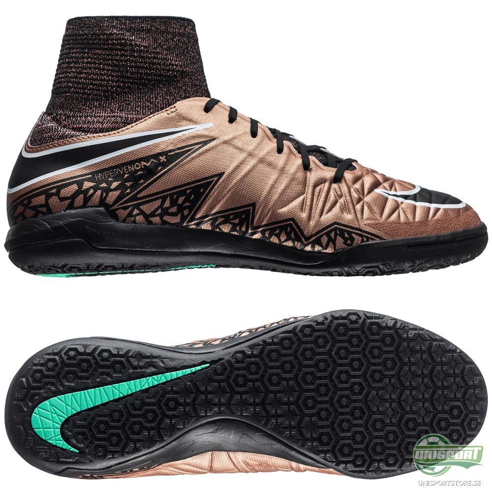 Nike HypervenomX Proximo IC Brons/Svart/Grön Barn