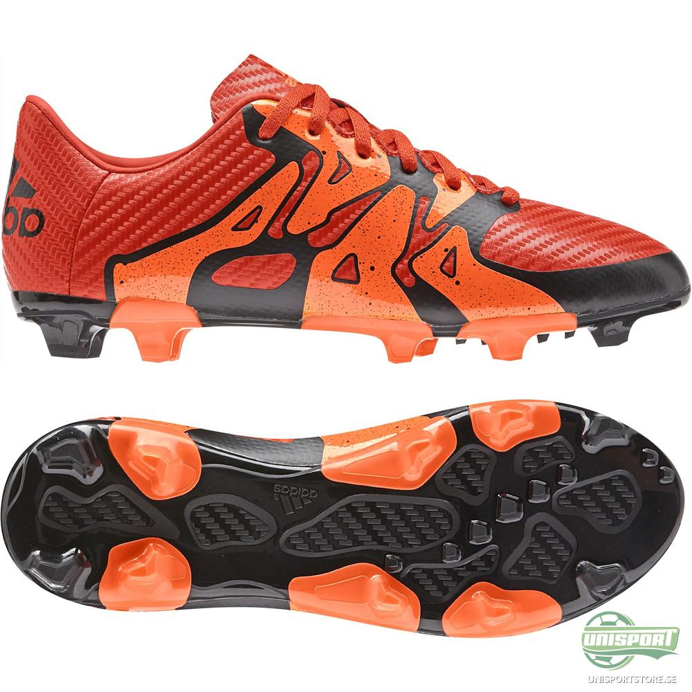 adidas X 15.3 FG/AG Röd/Orange/Svart Barn