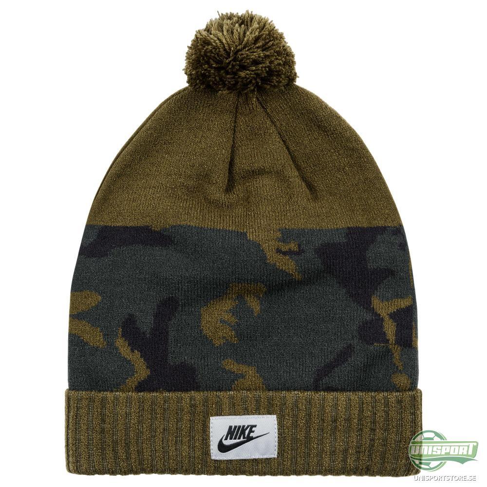 Nike F.C. Mössa Camo Pom Grön/Navy
