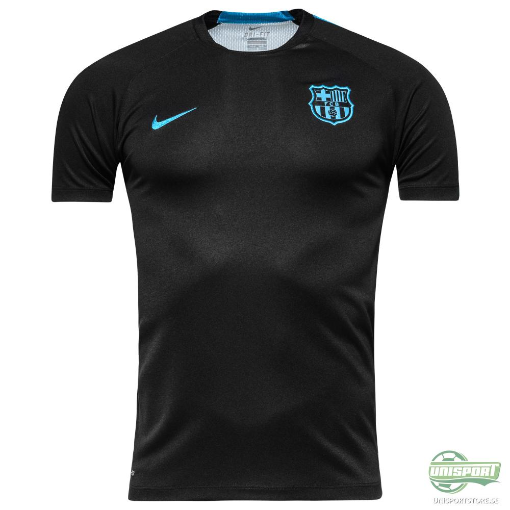Barcelona Träning T-Shirt Pre-Match 2 Svart/Turkos Barn