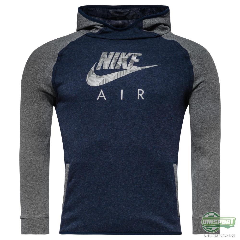 Nike Luvtröja Brushed Fleece Flash Air Navy/Grå Barn