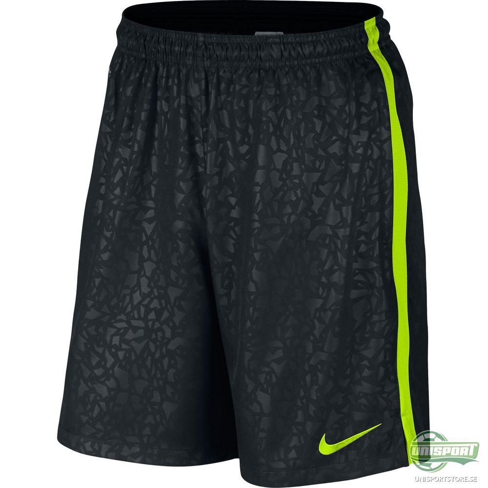 Nike Shorts Strike Longer Woven Graphic Svart/Neon
