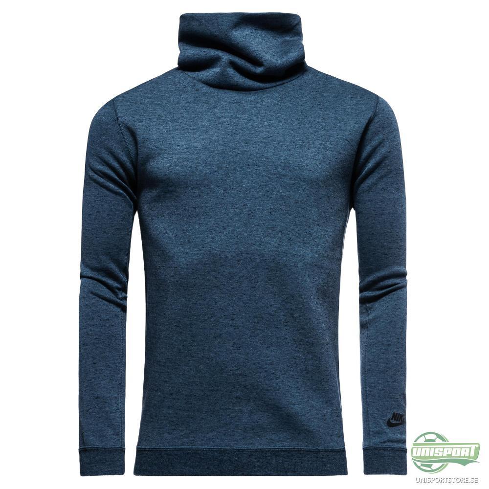 Nike Sweatshirt Tech Fleece Funnel Blå