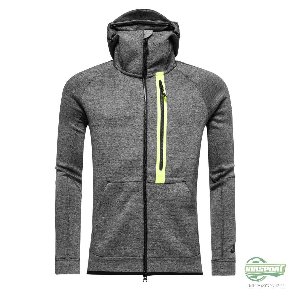 Nike Luvtröja Tech Fleece FZ Grå/Neon