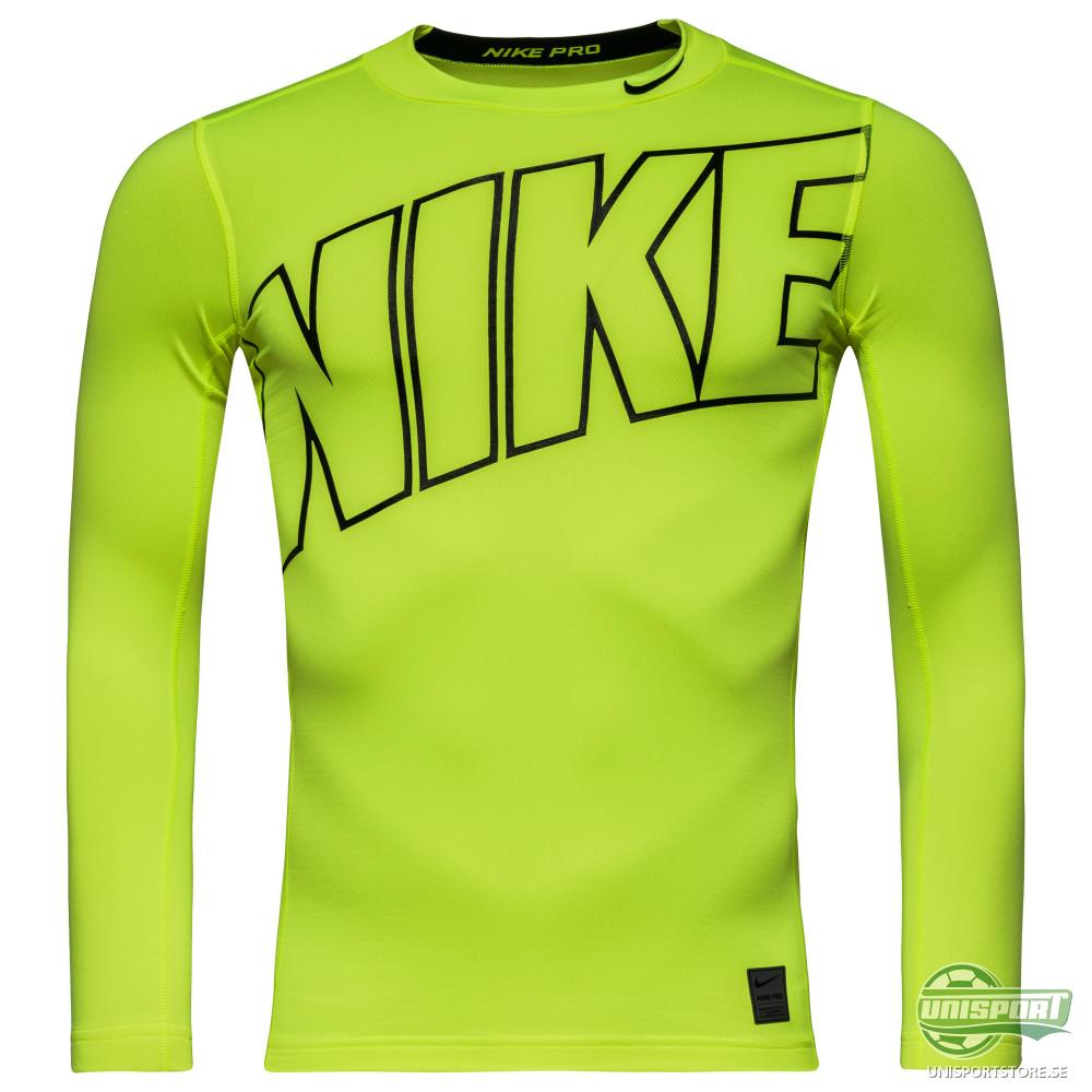 Nike Pro Hyperwarm Compression Mock HBR L/Ä Neon/Svart Barn