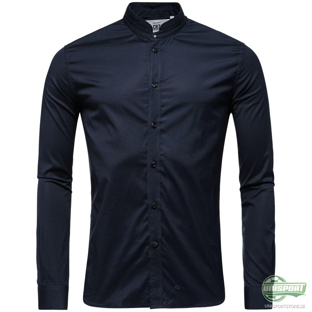 CR7 Skjorta Slim Fit High Collar Navy