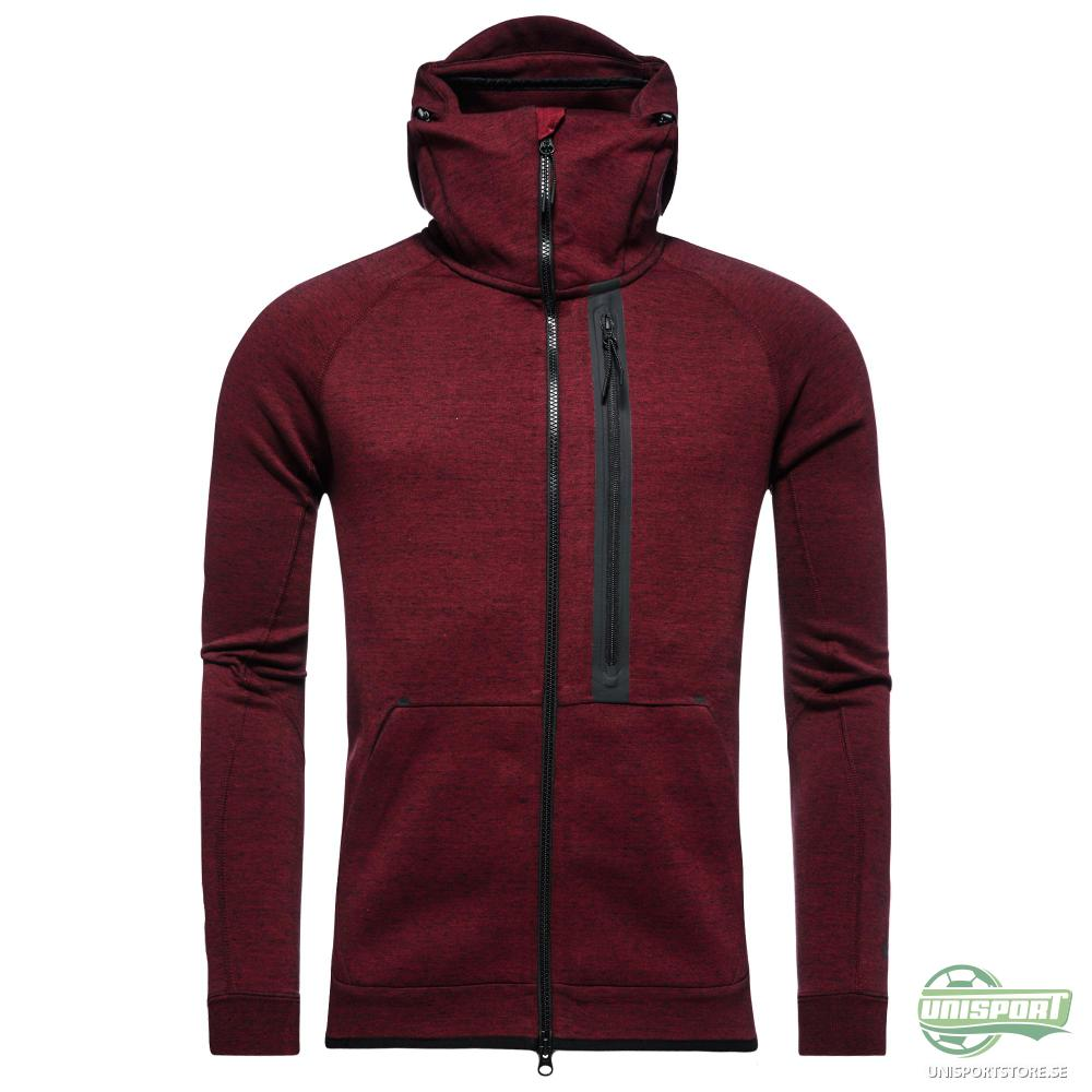 Nike Luvtröja Tech Fleece FZ Röd/Svart