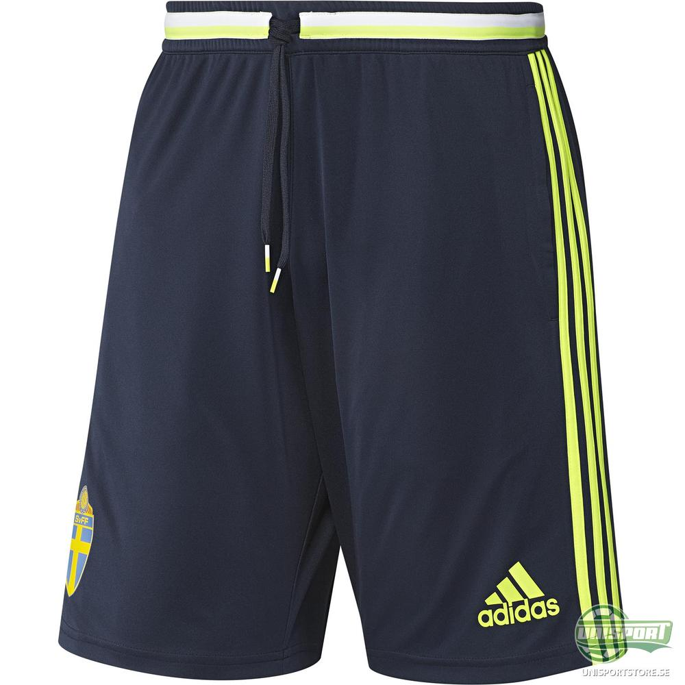 Sverige Shorts Navy/Gul