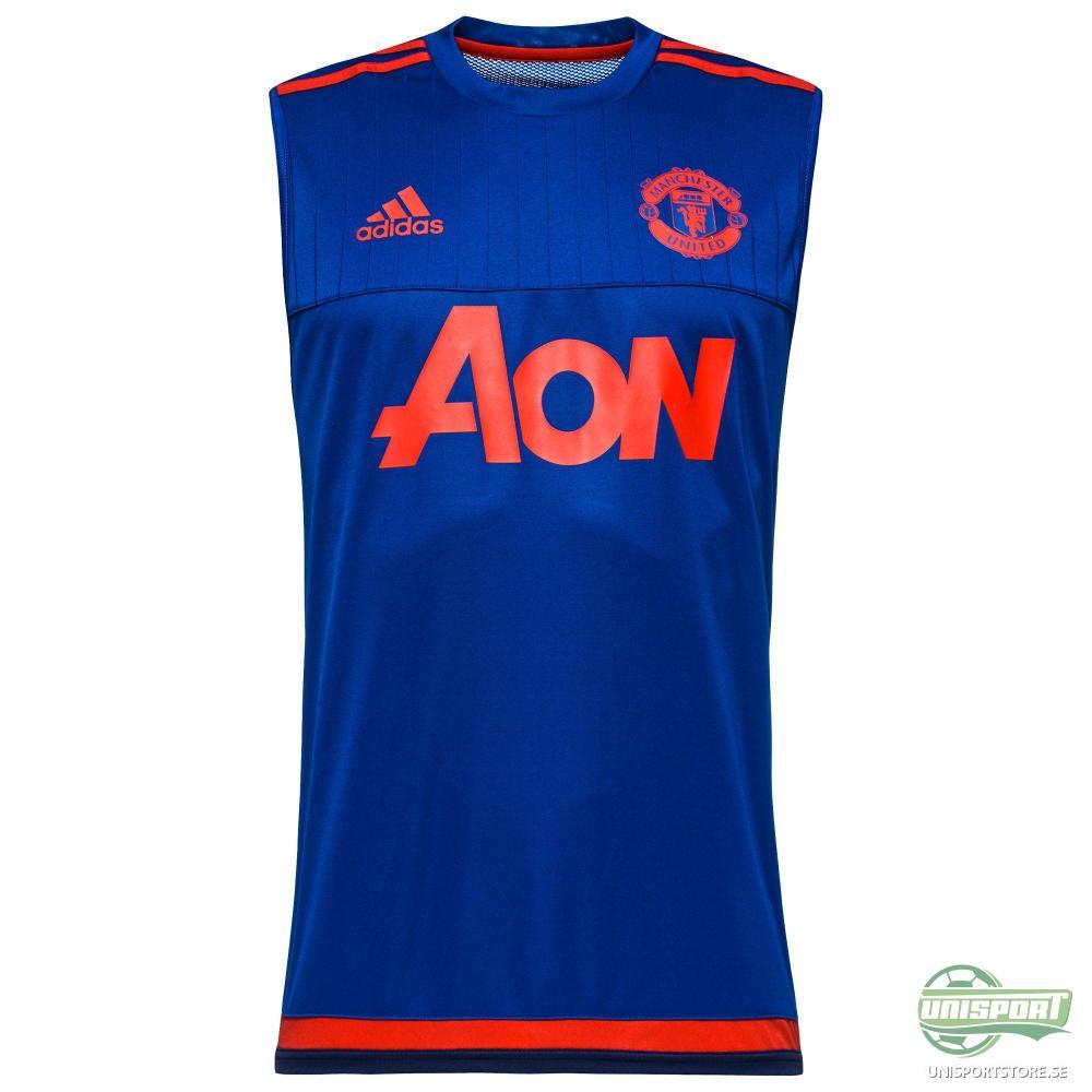 Manchester United T-Shirt Träning U/Ä Blå/Röd