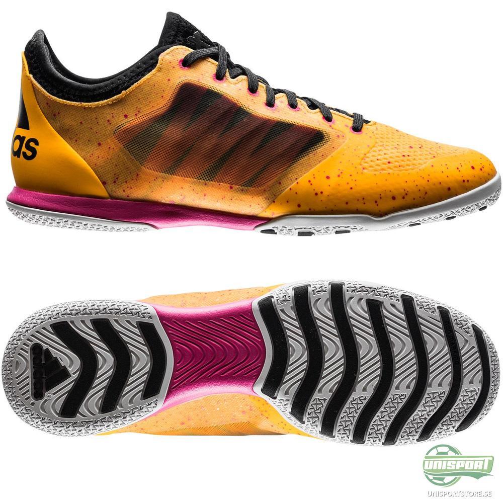 adidas X 15.1 Court IN Guld/Svart/Rosa