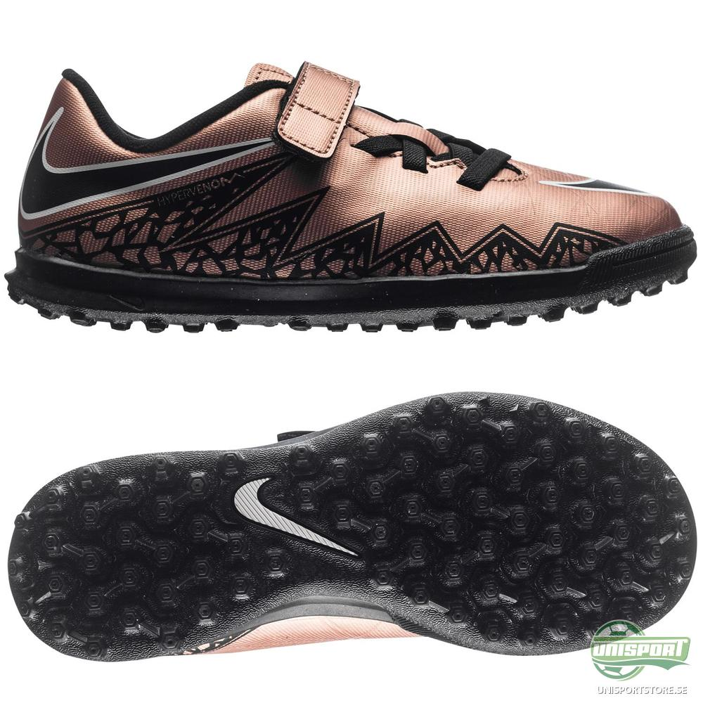 Nike Hypervenom Phade II TF Brons/Svart/Grön Barn