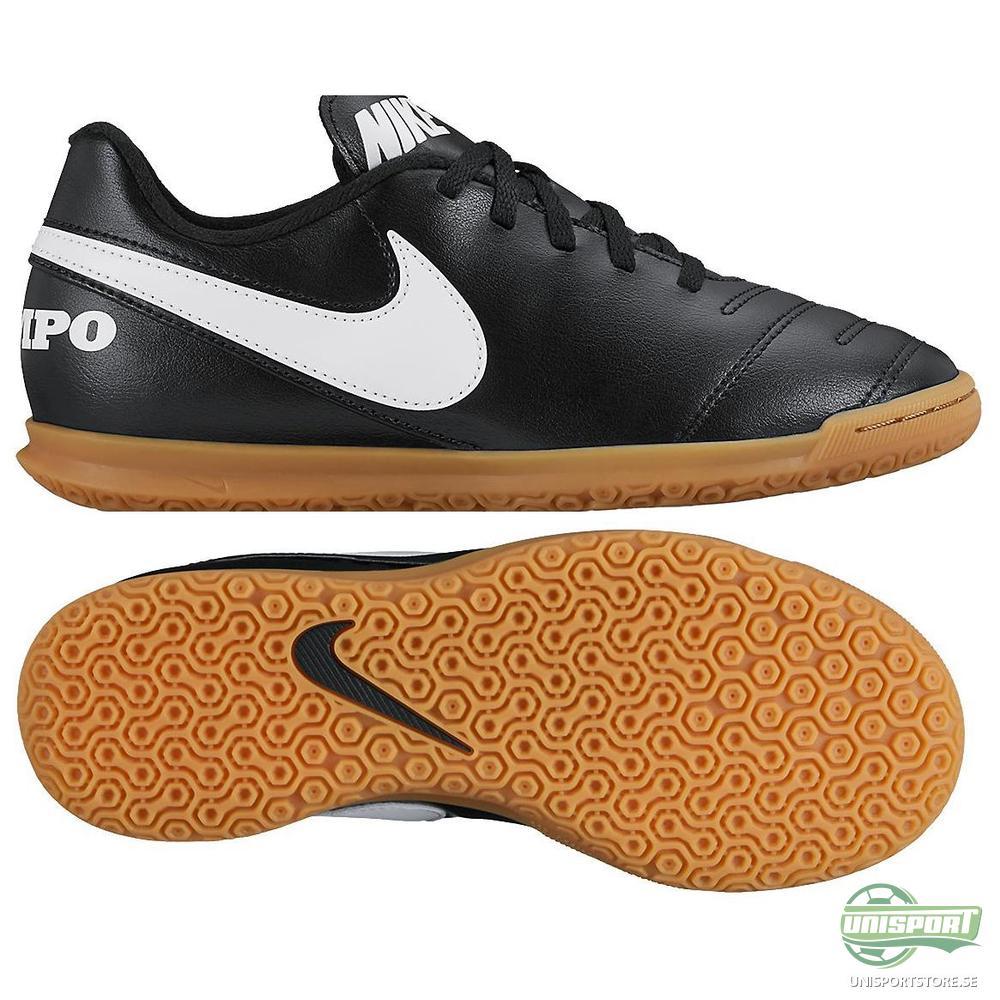 Nike Tiempo Rio III IC Svart/Vit/Guld Barn