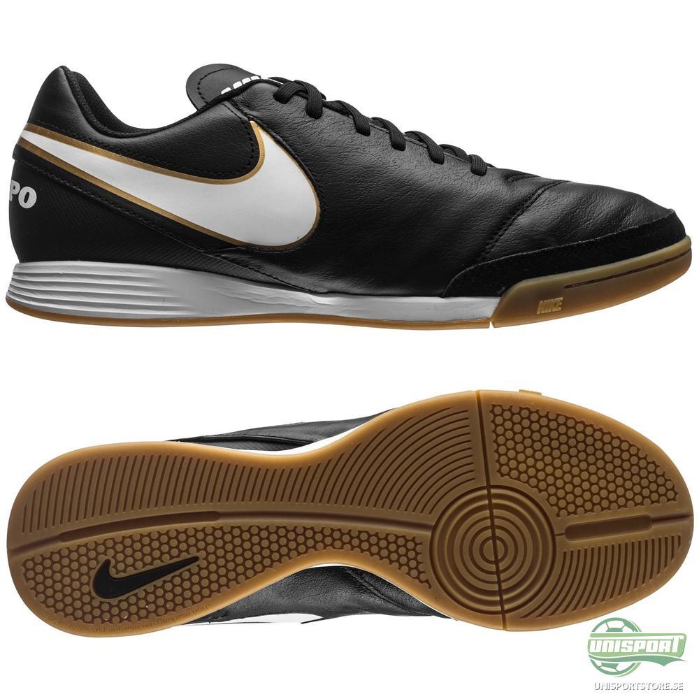 Nike Tiempo Genio II IC Svart/Vit/Guld