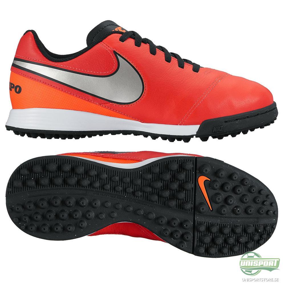 Nike Tiempo Legend 6 TF Röd/Silver Barn