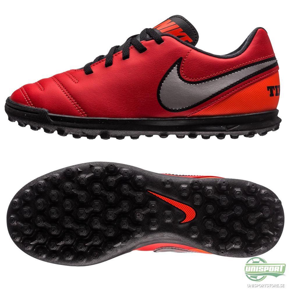 Nike Tiempo Rio III TF Röd/Silver Barn