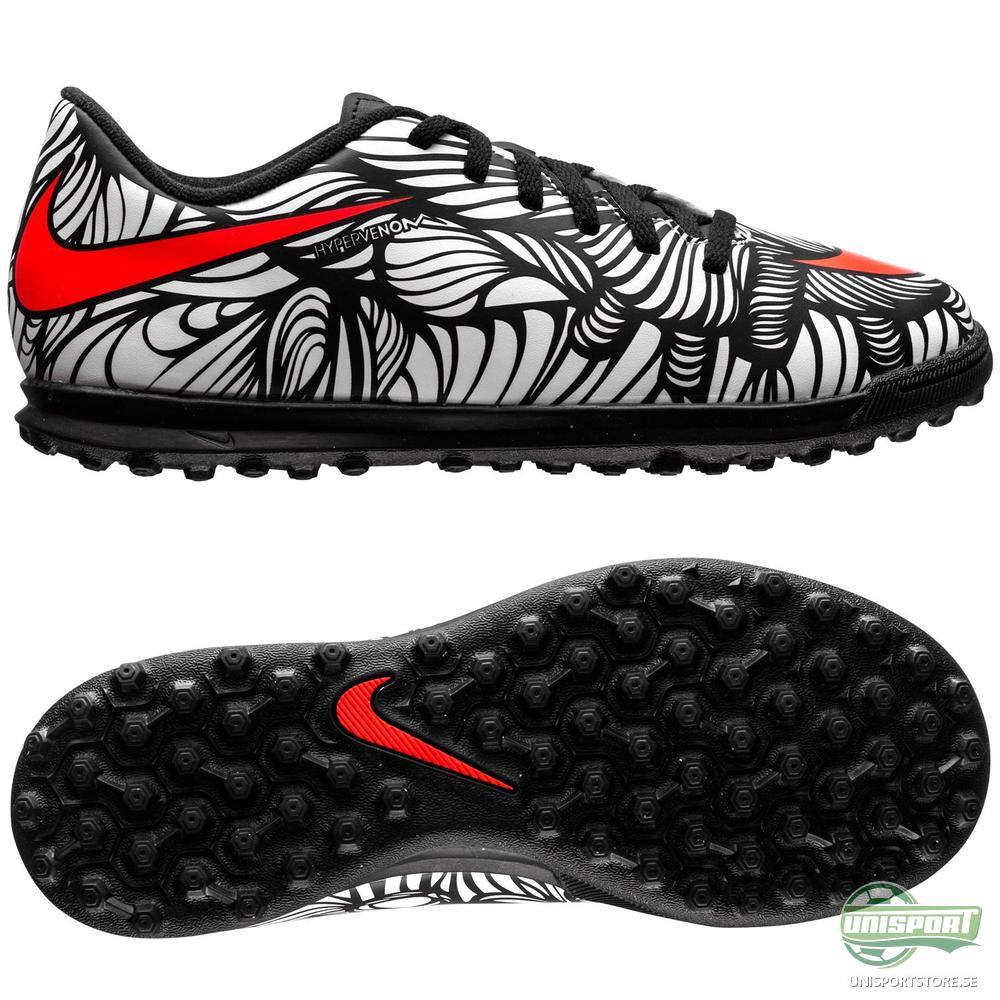 Nike Hypervenom Phade II Neymar Jr TF Svart/Röd/Vit Barn