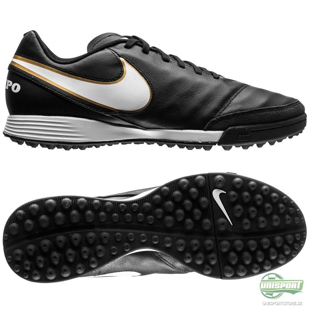 Nike Tiempo Genio II TF Svart/Vit/Guld